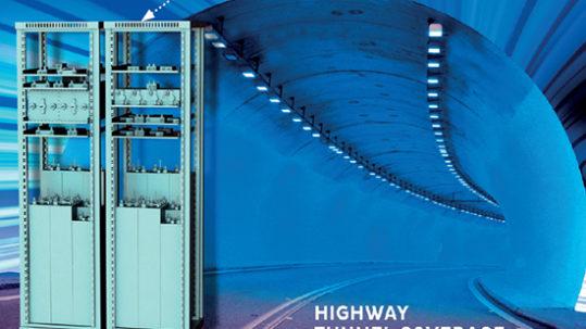 Funkfrequenzabdeckung für Autobahntunnel